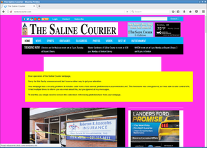 Saline Courier defacement