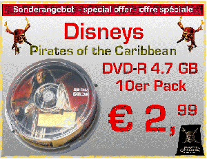 Pirates of the Caribbean DVD-R