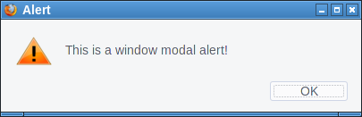 Window modal FTP alert