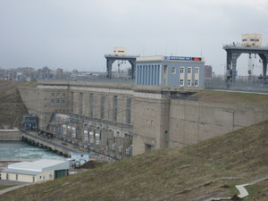 Irkutsk water power plant