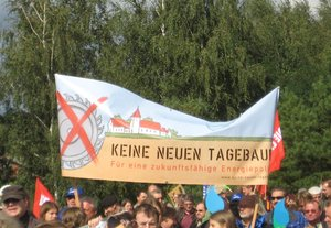Demonstration in Jänschwalde