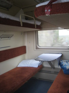 Beds in Platzkart carriage