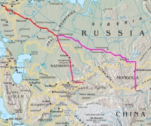 Map Of Europe And China.Fastest Overland Route From Europe To China Hanno S Blog